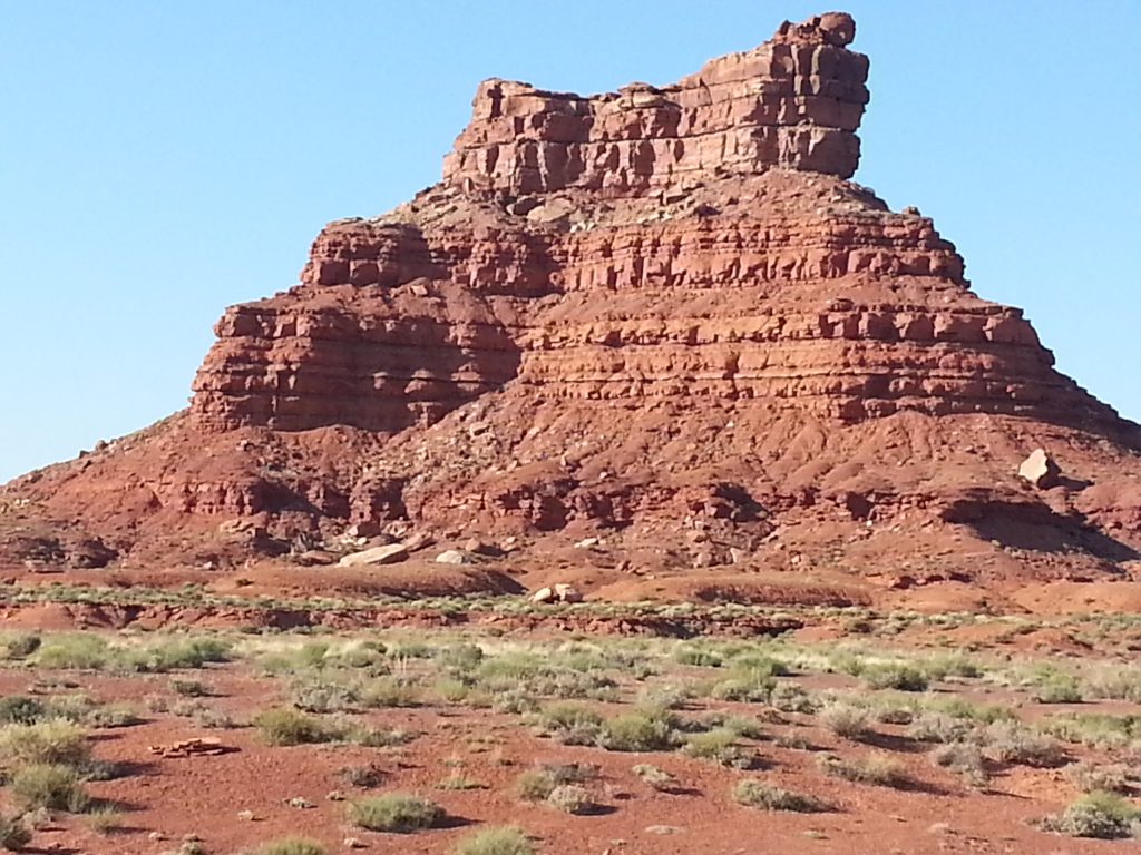 Wonderful rock formations in Valley of the Gods Utah - called Hoodoos.