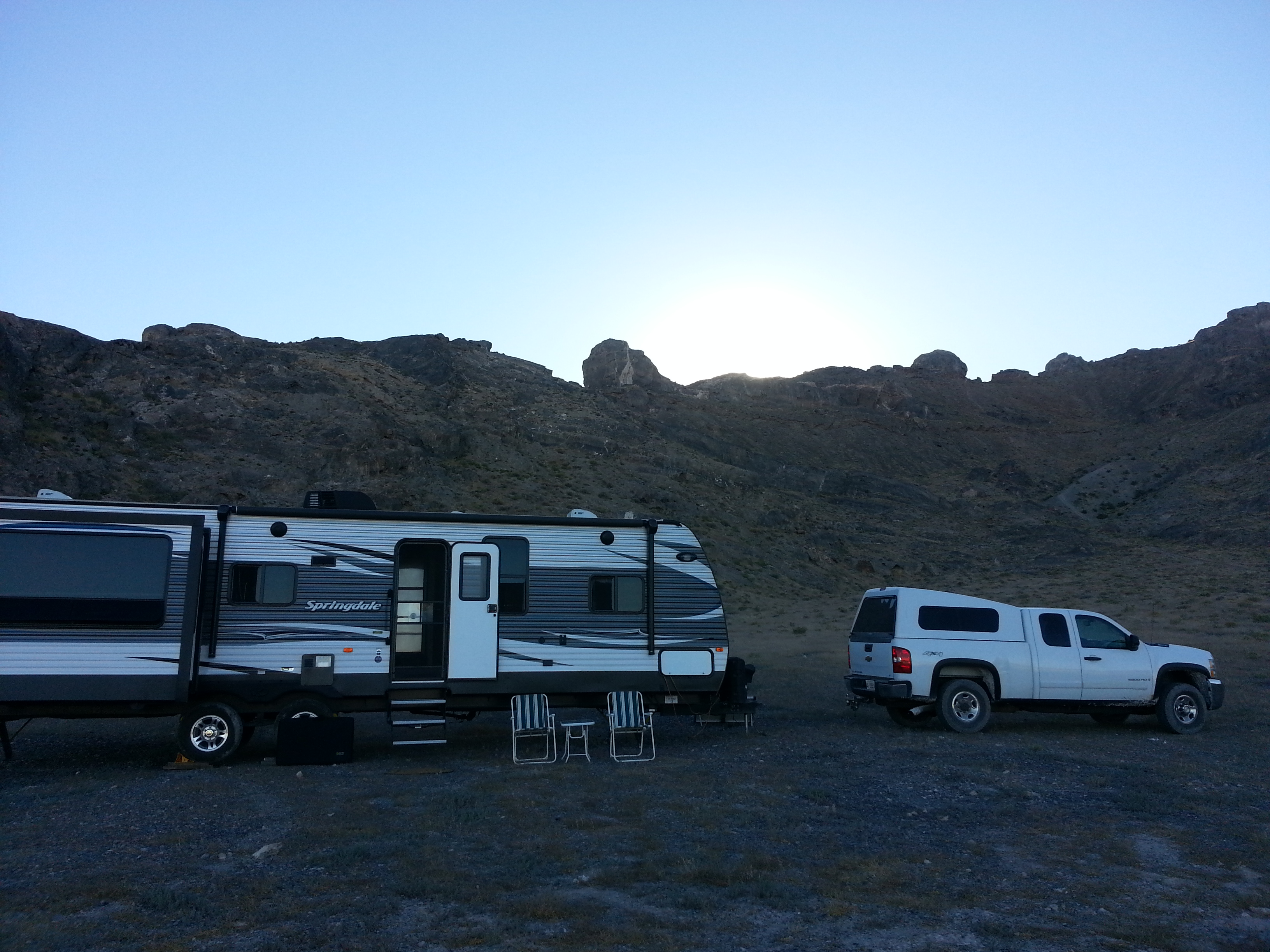 BLM.Camping at Bonneville.