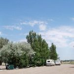 A campground by the local fair grounds. 1st night is free.