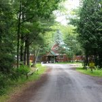 The entrance road to Maplewood Acres RV park