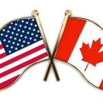 Canada and the USA flags