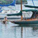 Sailboat at marina
